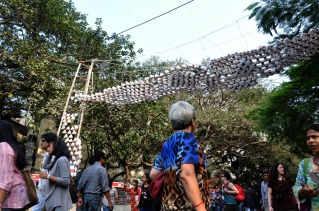 Arjun_rathi_cellular_fission_kalaghoda_arts_festival_origami_tetrahedrons_6