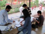 Arjun_rathi_cellular_fission_origami_folding_at_kaifi_azmi_park_juhu