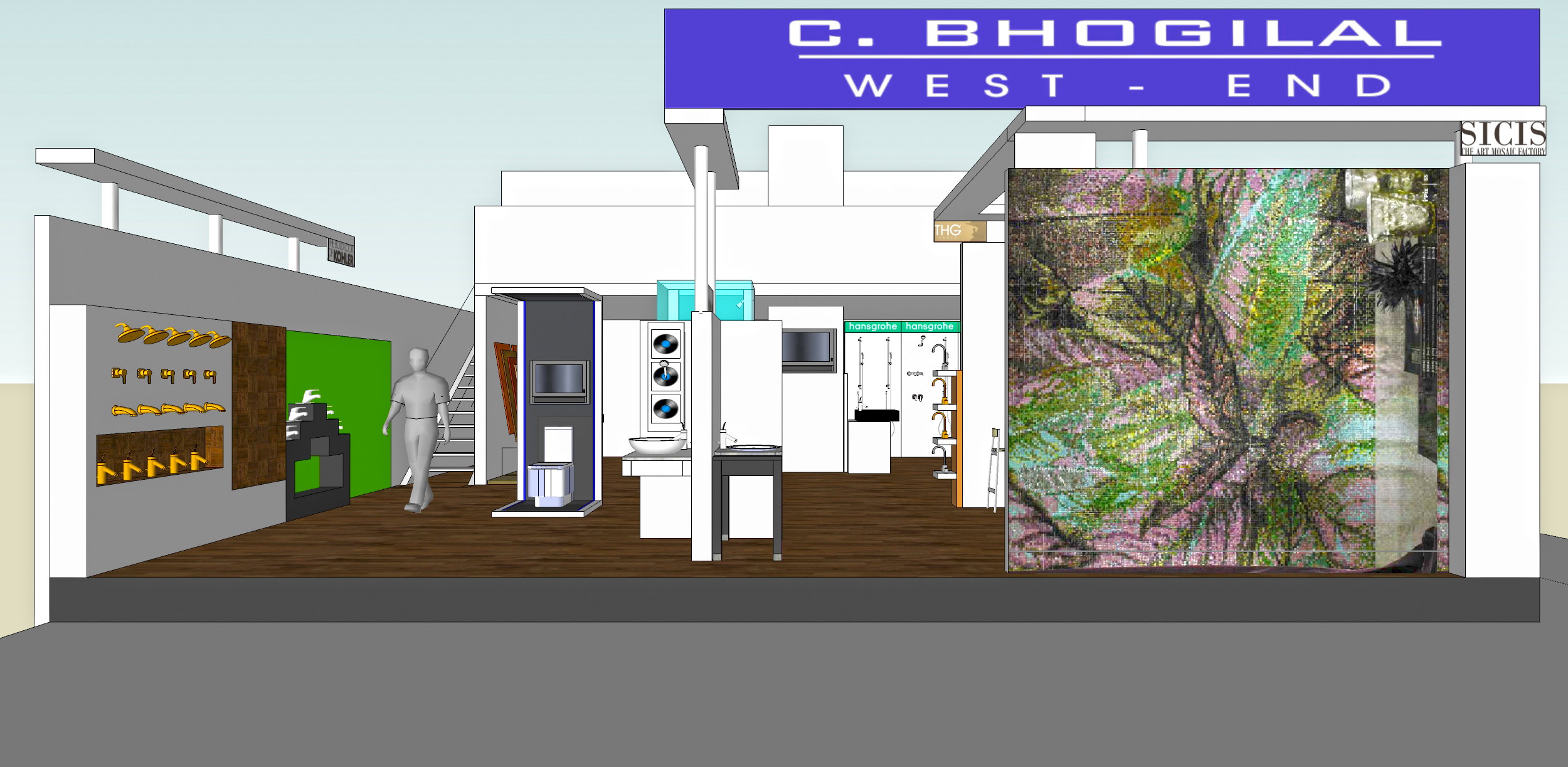 Exhibition Stall Zone : C bhogilal westend stall acetech mumbai arjun rathi