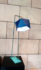 Arjun Rathi - Geodesic Lamp II - Patinised Copper, Brass, Leather