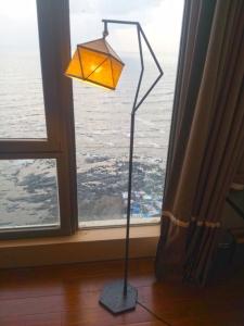 Arjun Rathi - Geodesic Lamp III - Standing Lamp - Powdercoated Steel, Brass, Linen 1