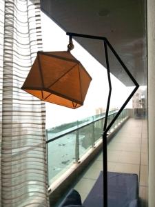 Arjun Rathi - Geodesic Lamp III - Standing Lamp - Powdercoated Steel, Brass, Linen 2