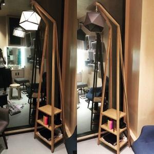 Arjun Rathi - Geodesic Lamp IV - Ladder Lamp - Maple Wood, Brass, Linen